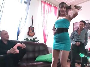 Slutty Teen Date Is In The Mood For A Double Penetration