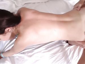 Perfect Big Tits On A Cock Loving Brunette Hottie
